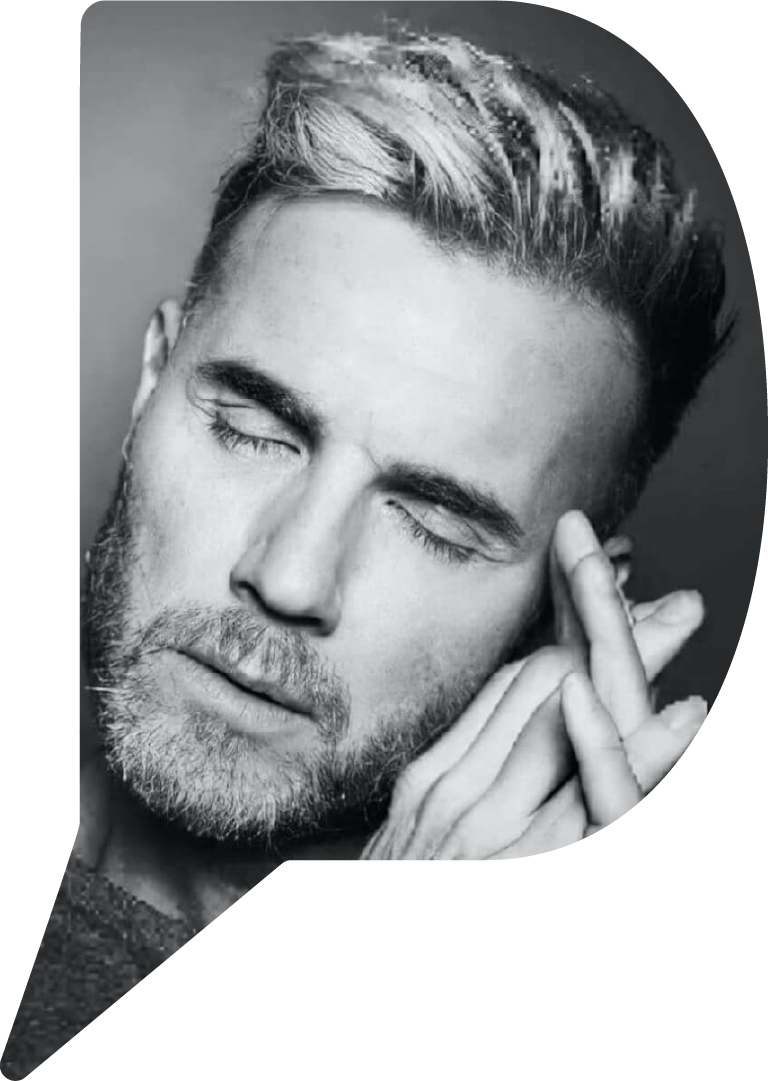 Gary Barlow photo as part of Ray Burmiston's virtual exhibition, Take A Moment For Mind.
