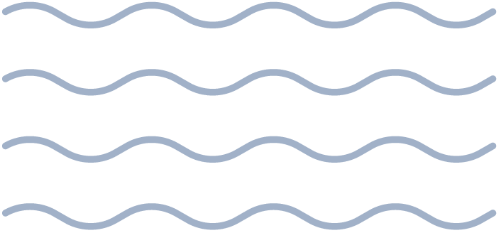 Waves icon, blue